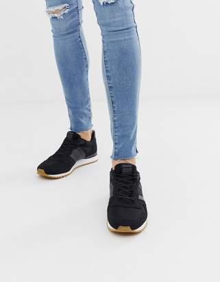 Jack and Jones sneaker in black with contrast sole
