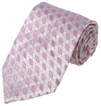 IDEA FashionOn FAA2095 Pink White Patterns Accessories Gift Woven Silk Mens Necktie Formal