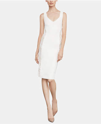 BCBGMAXAZRIA Lace-Inset Sheath Dress