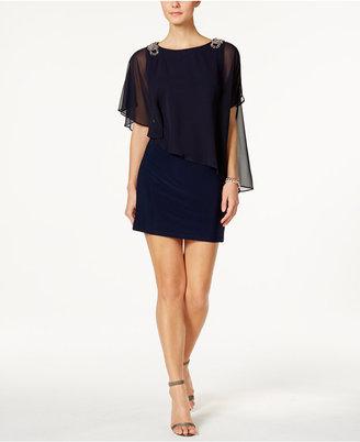 X by Xscape Embellished Chiffon Cape Dress $109 thestylecure.com
