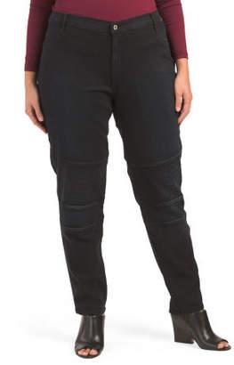 Made In Usa Plus Curvy Skinny Moto Pants