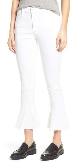 The Cha Cha Frayed Crop Flare Jeans