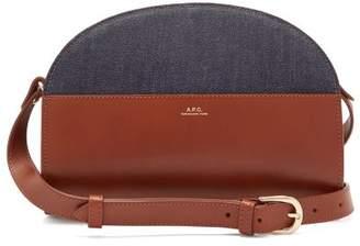 A.P.C. Half Moon Leather Cross Body Bag - Womens - Tan Multi