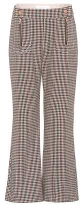 See by Chloe Cropped wool-blend trousers