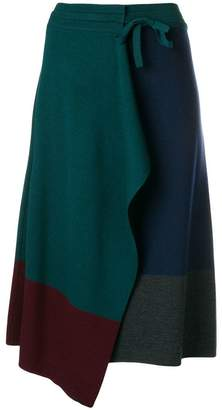 Kenzo colour block wrap skirt