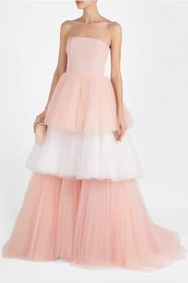 Carolina Herrera Bustier Tulle Gown