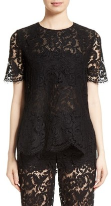 Women's Adam Lippes Lace Tee $890 thestylecure.com