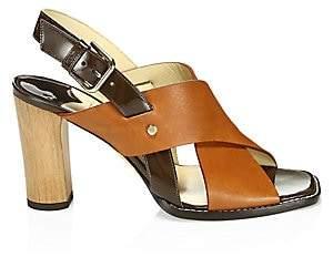 Jimmy Choo Women's Crisscross Leather Slingback Sandals