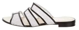 Chanel Crochet Slide Sandals