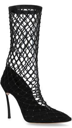 Casadei Blade Fishnet Pumps 100