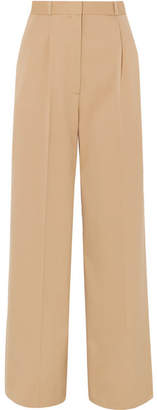 The Row Elin Wool-blend Twill Wide-leg Pants - Beige