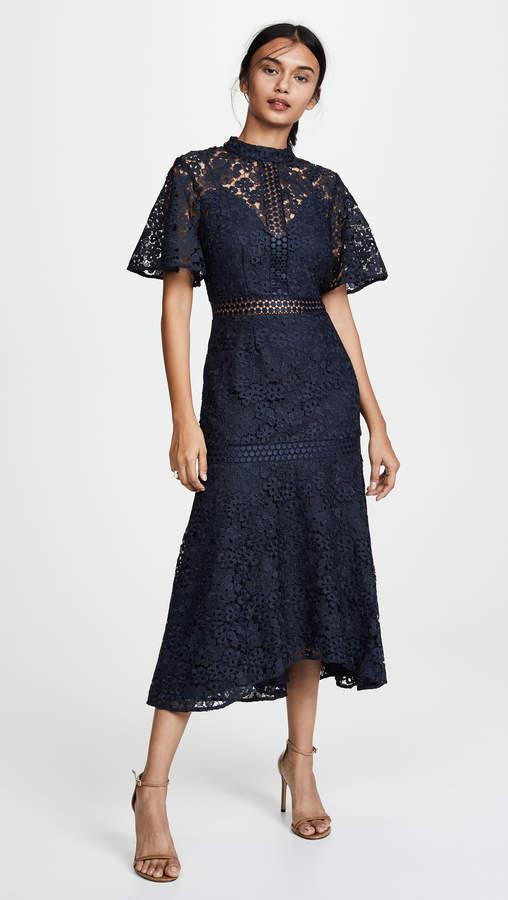 Utopia Lace Midi Dress