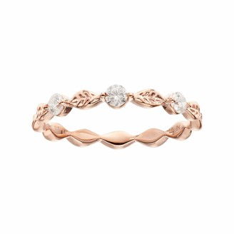 Lauren Conrad 10k Gold 1/5 Carat T.W. Diamond Leaf Ring