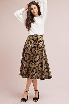 Plenty by Tracy Reese Flared Jacquard Skirt