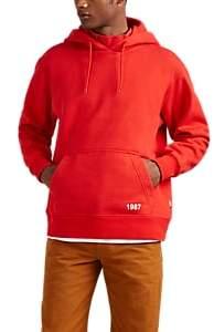 Martine Rose Napa by Men's Logo-Detailed Cotton-Blend Fleece Hoodie - Red
