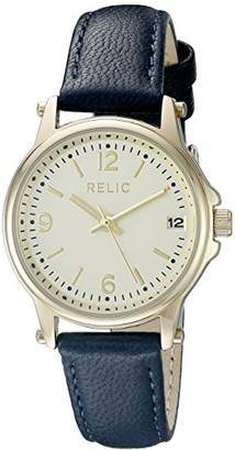 Relic Women's Matilda Quartz Stainless Steel and Leather Casual Watch