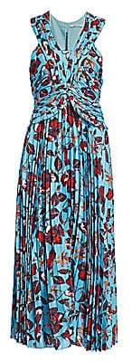 Derek Lam 10 Crosby Women's Floral Pleated Maxi Dress