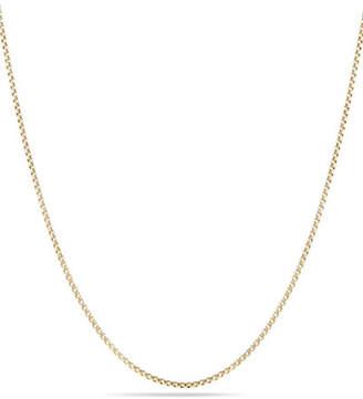 David Yurman Box Chain Necklace with Spiritual Bead Clasp