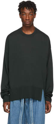 Wooyoungmi Green Vented Sweater