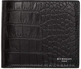 Givenchy Black Croc 8CC Wallet