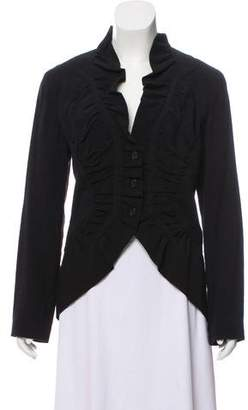 Issey Miyake Ruffle-Trimmed Long Sleeve Jacket