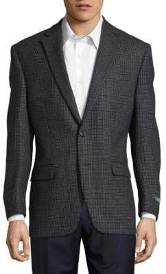 Lauren Ralph Lauren Checkered Wool Suit Jacket