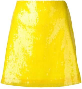 Alberta Ferretti yellow sequin skirt