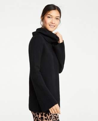 Ann Taylor Flare Sleeve Turtleneck Tunic Sweater