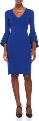 Eliza J Petite Bell Sleeve Bodycon Dress