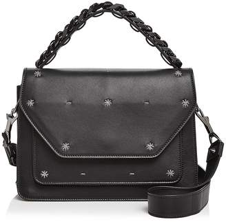 Elena Ghisellini Eclipse Starry Night Medium Leather Satchel