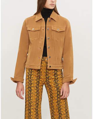 Frame Split-cuff suede trucker jacket