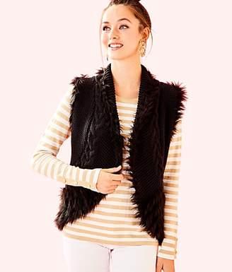 Lilly Pulitzer Torini Faux Fur Sweater Vest