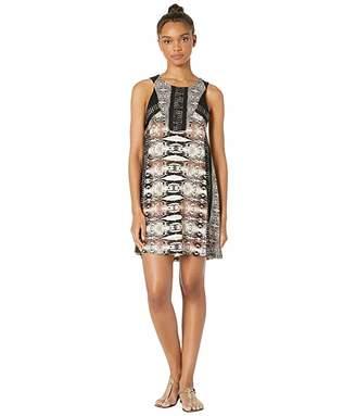 BCBGMAXAZRIA Printed Matte Jersey Shift Dress