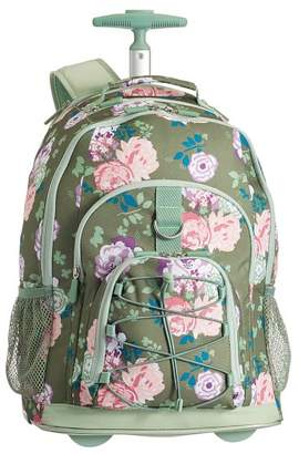Pottery Barn Teen Gear-Up Olive Garden Party Floral Rolling Backpack