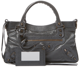 Balenciaga  Classic First Arena Small Lambskin Leather Satchel