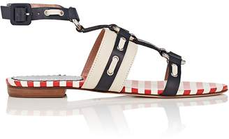RED Valentino WOMEN'S EMBELLISHED LEATHER ANKLE-STRAP SANDALS