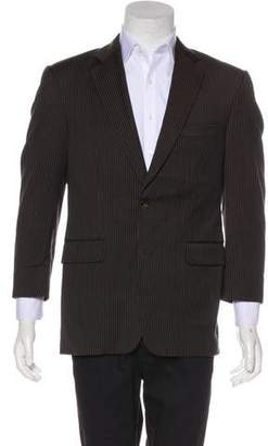 Burberry Striped Notch-Lapel Blazer