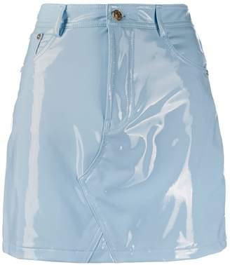 Chiara Ferragni vinyl fitted mini skirt