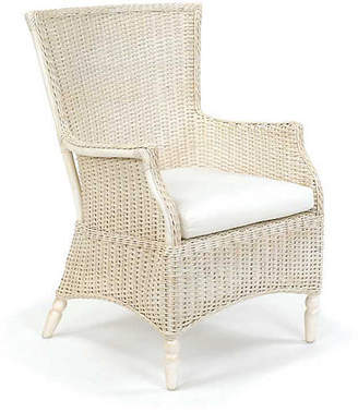 One Kings Lane Eastern Shore Wicker Chair - Antiqued White