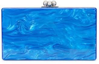 Edie Parker marbled effect clutch