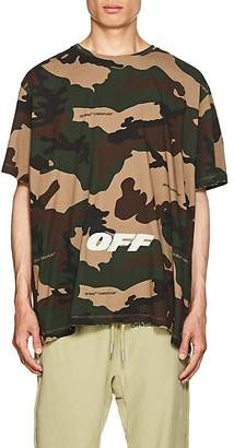 Off-White Men's Logo Camouflage Cotton Oversized T-Shirt