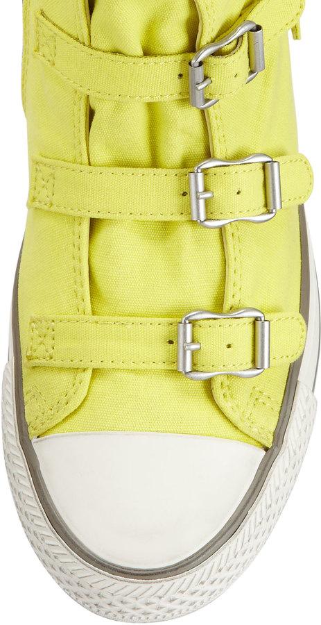 Ash Virgin Buckled Sneaker, Lemon