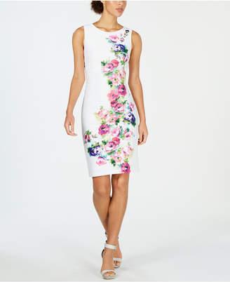 e6c893dc0b Calvin Klein Pink Print Sheath Dresses - ShopStyle