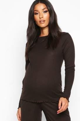 boohoo Maternity Rib Culotte Co Ord Set