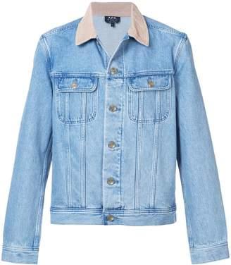 A.P.C. contrast collar denim jacket
