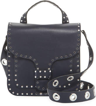 Rebecca Minkoff Midnighter Studded Leather Top Handle Feed Bag