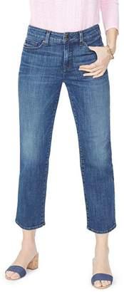 NYDJ Jenna Straight Ankle Jeans in Desert Gold