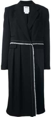 DKNY long panelled coat $1,186 thestylecure.com