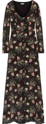 Vilshenko Printed Silk Crepe De Chine Maxi Dress