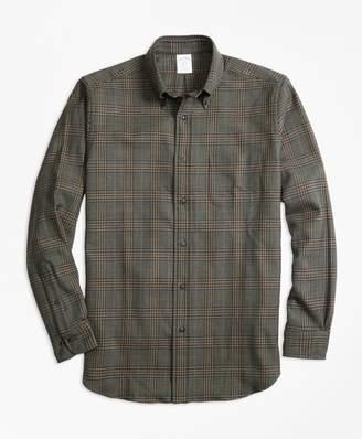 Brooks Brothers Regent Fit Saxxon Wool Glen Plaid Sport Shirt